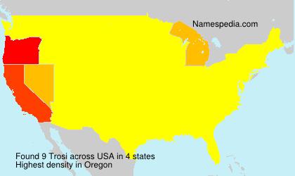 Surname Trosi in USA