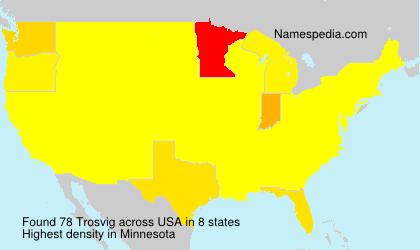 Familiennamen Trosvig - USA