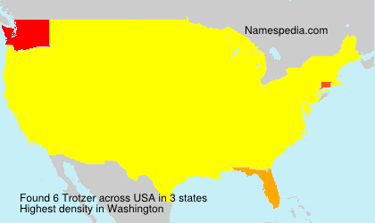 Surname Trotzer in USA