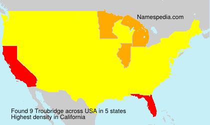 Surname Troubridge in USA