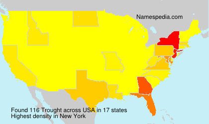 Surname Trought in USA