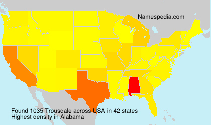 Surname Trousdale in USA