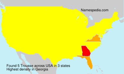 Surname Trousse in USA