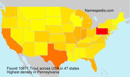 Familiennamen Trout - USA