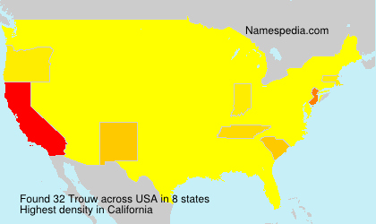 Surname Trouw in USA