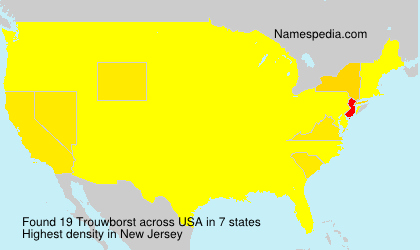 Surname Trouwborst in USA