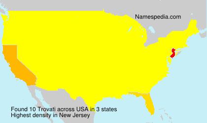 Surname Trovati in USA