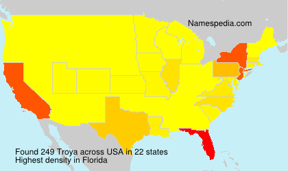 Surname Troya in USA