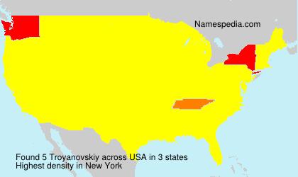 Surname Troyanovskiy in USA