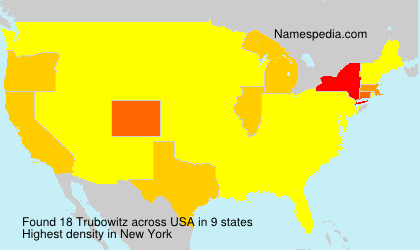 Surname Trubowitz in USA