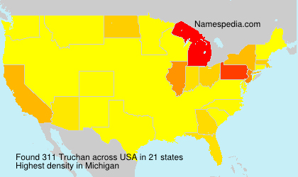 Surname Truchan in USA