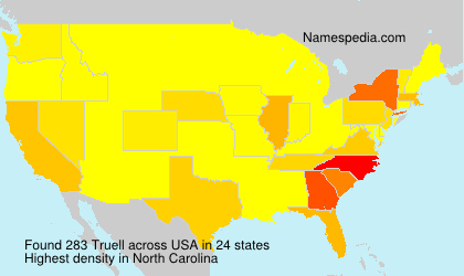 Surname Truell in USA