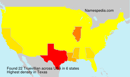 Surname Truevillian in USA