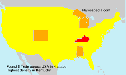 Surname Truie in USA