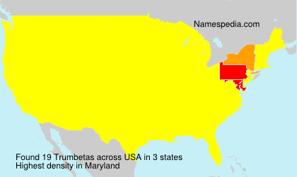 Surname Trumbetas in USA