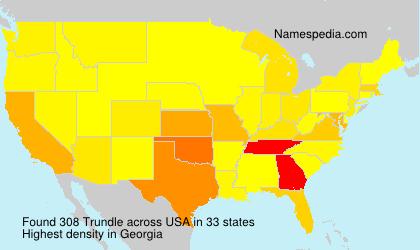 Familiennamen Trundle - USA