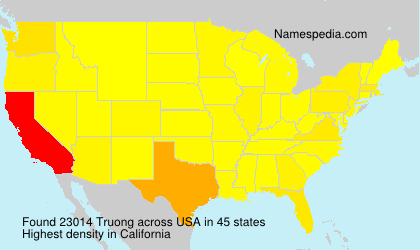Surname Truong in USA