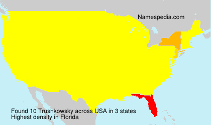 Surname Trushkowsky in USA