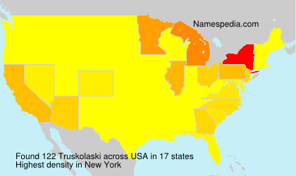 Surname Truskolaski in USA