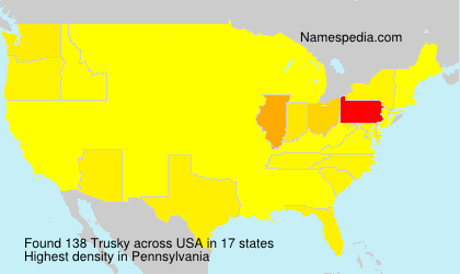 Surname Trusky in USA