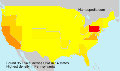 Surname Truxel in USA