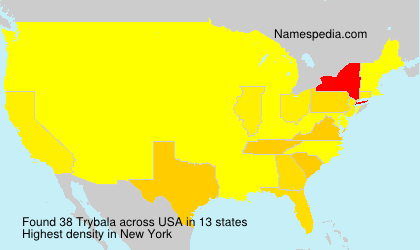 Surname Trybala in USA