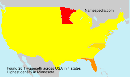 Surname Tryggeseth in USA