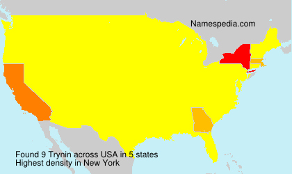 Surname Trynin in USA