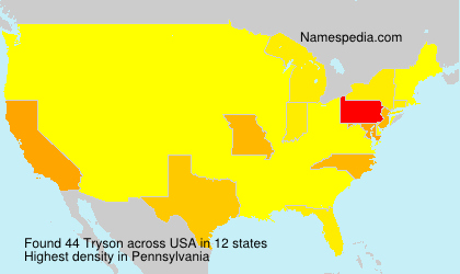 Surname Tryson in USA