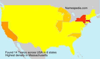 Surname Tsaros in USA