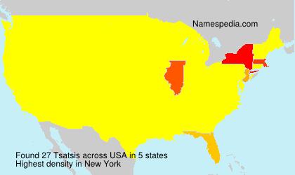 Surname Tsatsis in USA