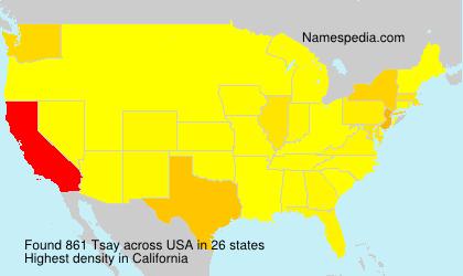 Familiennamen Tsay - USA