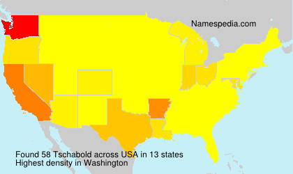 Surname Tschabold in USA