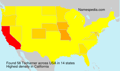 Surname Tscharner in USA