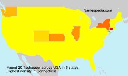 Familiennamen Tschauder - USA