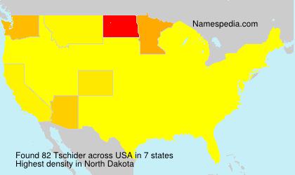 Surname Tschider in USA