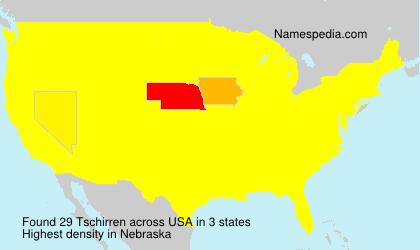 Surname Tschirren in USA