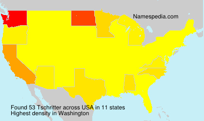Surname Tschritter in USA