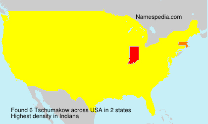 Surname Tschumakow in USA