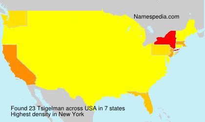 Familiennamen Tsigelman - USA