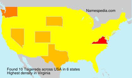 Surname Tsigereda in USA