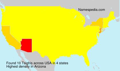 Familiennamen Tsighis - USA