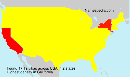 Surname Tsivikas in USA
