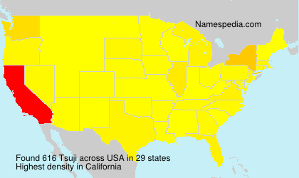 Surname Tsuji in USA