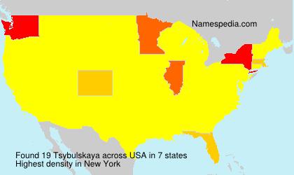 Surname Tsybulskaya in USA