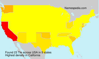 Surname Tte in USA