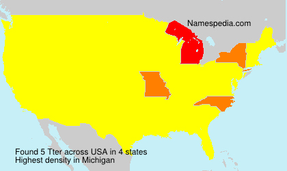 Surname Tter in USA