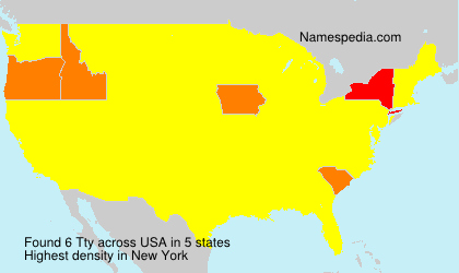 Surname Tty in USA