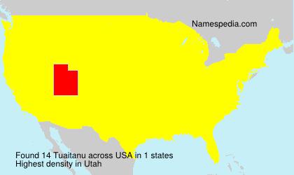 Surname Tuaitanu in USA