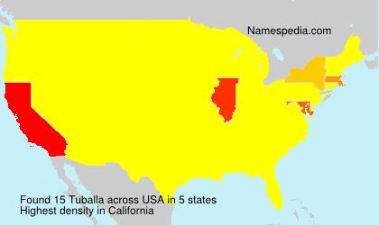 Surname Tuballa in USA
